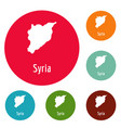 syria map in black simple vector image