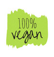 vegan eco bio organic green design template vector image