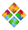 Puzzle Squares vector image vector image