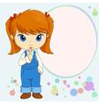 chupa girl vector image vector image