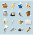 Sticker icons for personal belongings vector image