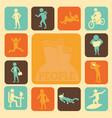 activities of people vector image