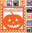 Set of Halloween papel picado in format vector image