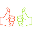 thumbs up sketch vector image vector image