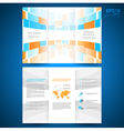 brochure folder leaflet geometric abstract element vector image