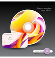 Cover design template of disk and business card vector image vector image