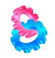 cog wheels vector image vector image