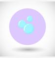 bubble flat icon vector image