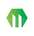 hexagon building logo vector image