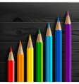 Infographic rainbow colored pencils diagonal vector image