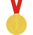 Medal icon image yellow color vector image