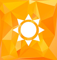 sun icon with polygonal background vector image