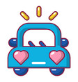 wedding car icon cartoon style vector image