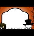 Halloween tombstone copy space vector image vector image