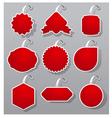 empty advertising badges vector image