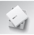 White square open box vector image