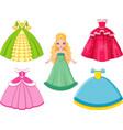 doll princess vector image