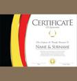 certificate or diploma belgium flag design vector image