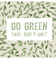 green background leaves vector image vector image