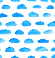 Watercolor pattern with clouds vector image