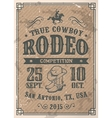 American cowboy rodeo poster vector image