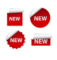 new advertising stickers vector image vector image
