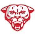 Angry Cougar Mountain Lion Head Retro vector image