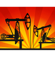 Oil units at work vector image vector image