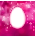 Easter eggs background with elegant bokeh EPS 10 vector image