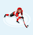 hockey cartoon boy poster vector image