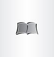newspaper book reading logo icon vector image