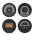 Robotic Vacuum Cleaner Icons Set vector image