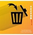 Trash bin Flat modern web button with long shadow vector image