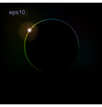 Abstract background with the eclipse of the planet vector image