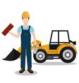 builder constructor worker icon vector image
