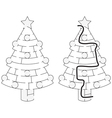 Easy Christmas tree maze vector image