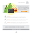 Happy New Year Holiday Greeting email template in vector image