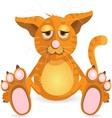 redhead cat vector image
