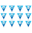 Set of pointers car service icons vector image