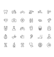 flat healthcare icons vector image