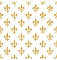 Golden fleur-de-lis seamless pattern white 1 vector image