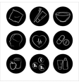 9 health icons medicine medical signs vector image