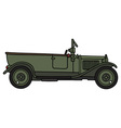 Vintage military opened car vector image