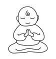 buddhist monk icon cartoon of vector image