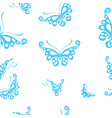 butterflies silhouettes isolated on white vector image