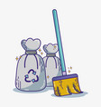 domestic service equipment to clean house vector image