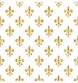 Golden fleur-de-lis seamless pattern white 1 vector image