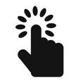 hand cursor icon simple black style vector image