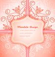 Mandala invitation lace vector image