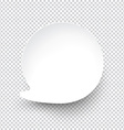 White round paper speech bubble vector image